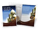 Religious/Spiritual: Plantilla de folleto - arquitectura islámica #05013