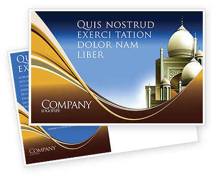 Islamic Architecture Postcard Template