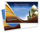 Religious/Spiritual: Islamic Architecture Postcard Template #05013