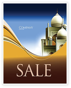 Islamic Architecture Sale Poster Template, 05013, Religious/Spiritual — PoweredTemplate.com