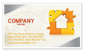 Townhouse Planning Business Card Template, 05014, Consulting — PoweredTemplate.com