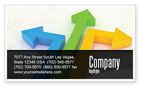 Consulting: Directions Business Card Template #05017