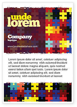 Abstract/Textures: Colorful Puzzle Canvas Ad Template #05021