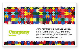 Abstract/Textures: Colorful Puzzle Canvas Business Card Template #05021