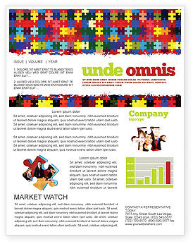 Abstract/Textures: Colorful Puzzle Canvas Newsletter Template #05021