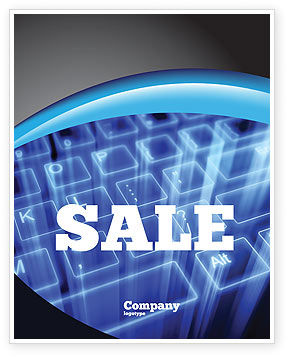 Technology, Science & Computers: Virtual Keyboard Sale Poster Template #05023