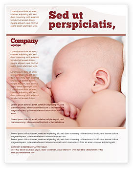 Breast Feeding Flyer Template Background In Microsoft Word - Breastfeeding brochure templates