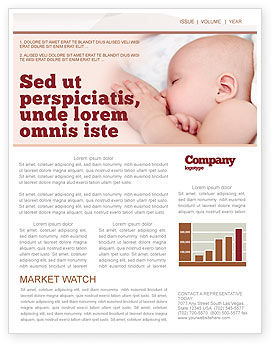 Breast Feeding Newsletter Template, 05025, Medical — PoweredTemplate.com
