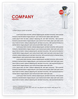 Legal: Traffic Police Letterhead Template #05026