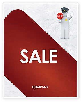 Traffic Police Sale Poster Template, 05026, Legal — PoweredTemplate.com