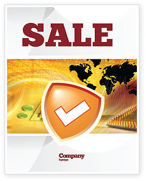 Shield Sale Poster Template, 05033, Technology, Science & Computers — PoweredTemplate.com