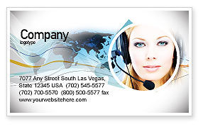 Telecommunication: Communication Service Business Card Template #05039