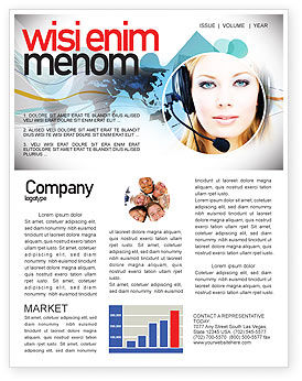 Telecommunication: Communication Service Newsletter Template #05039