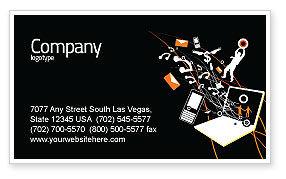 Telecommunication: Plantilla de tarjeta de visita - interacción #05041
