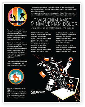 Telecommunication: Templat Flyer Interaksi #05041