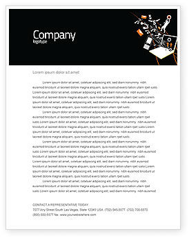 Interaction Letterhead Template, 05041, Telecommunication — PoweredTemplate.com