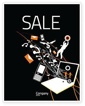 Telecommunication: Interaction Sale Poster Template #05041