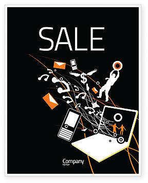 Interaction Sale Poster Template, 05041, Telecommunication — PoweredTemplate.com