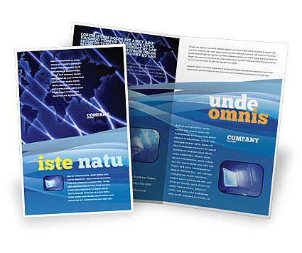 Broadcasting Network Brochure Template, 05044, Telecommunication — PoweredTemplate.com