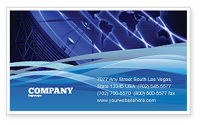 Telecommunication: Broadcasting Network Business Card Template #05044