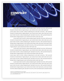 Broadcasting Network Letterhead Template, 05044, Telecommunication — PoweredTemplate.com