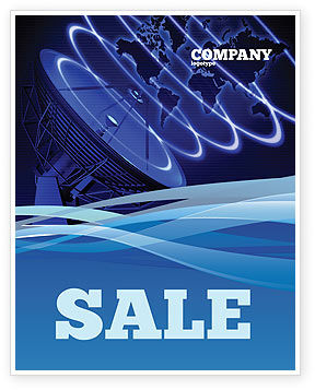 Broadcasting Network Sale Poster Template, 05044, Telecommunication — PoweredTemplate.com