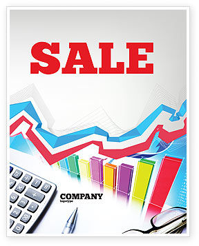 Financial/Accounting: Estimate Calculation Sale Poster Template #05048