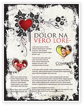 Love Ornament Flyer Template, 05050, Holiday/Special Occasion — PoweredTemplate.com