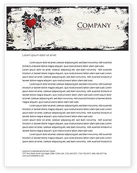 Holiday/Special Occasion: Love Ornament Letterhead Template #05050