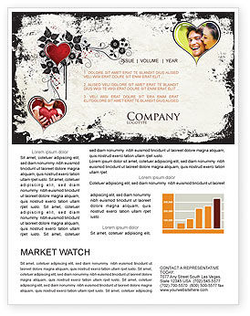 Holiday/Special Occasion: Love Ornament Newsletter Template #05050