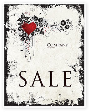 Holiday/Special Occasion: Love Ornament Sale Poster Template #05050