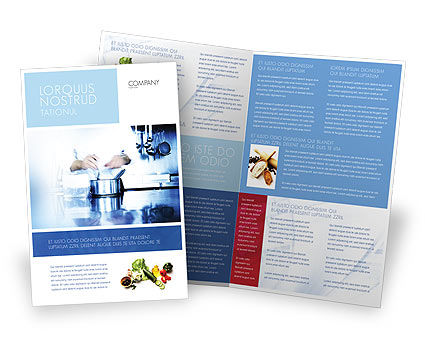Cooking Brochure Template, 05056, Careers/Industry — PoweredTemplate.com