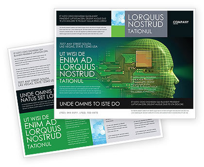 Technology, Science & Computers: Modèle de Brochure de ère de la haute technologie #05057