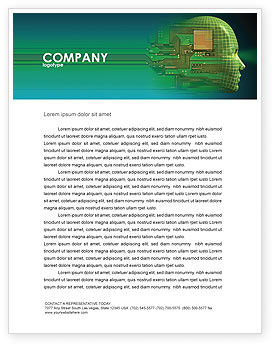 High Tech Era Letterhead Template, 05057, Technology, Science & Computers — PoweredTemplate.com