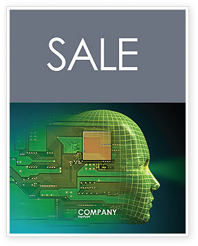 Technology, Science & Computers: High Tech Era Sale Poster Template #05057