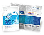 Telecommunication: Patchsnoer In Blauwe Kleuren Brochure Template #05058