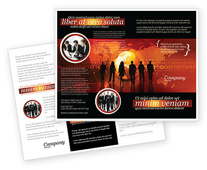 Success Story Brochure Template, 05060, Careers/Industry — PoweredTemplate.com