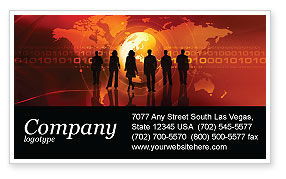 Success Story Business Card Template, 05060, Careers/Industry — PoweredTemplate.com