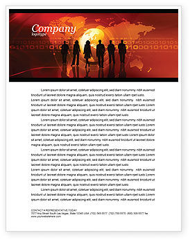 Success Story Letterhead Template, 05060, Careers/Industry — PoweredTemplate.com