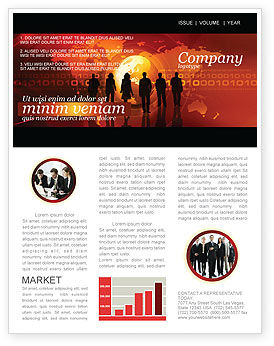 Success Story Newsletter Template, 05060, Careers/Industry — PoweredTemplate.com