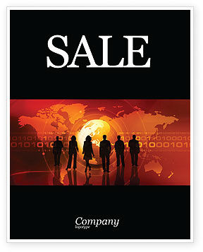 Success Story Sale Poster Template, 05060, Careers/Industry — PoweredTemplate.com