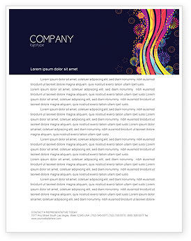 Abstract/Textures: Color Splash Letterhead Template #05061