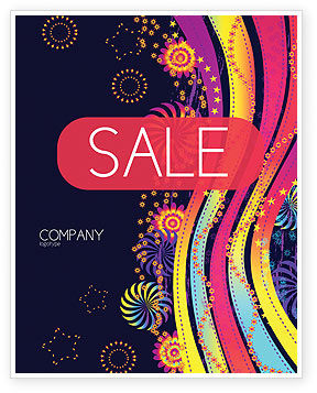 Abstract/Textures: Color Splash Sale Poster Template #05061