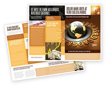 Financial/Accounting: Global Currency Brochure Template #05065