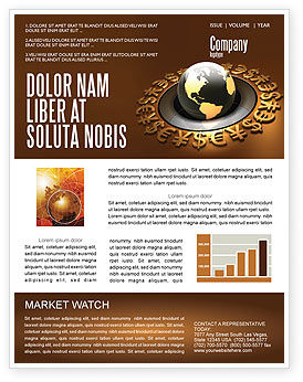 Global Currency Newsletter Template, 05065, Financial/Accounting — PoweredTemplate.com