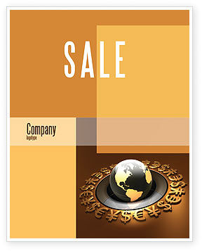 Global Currency Sale Poster Template, 05065, Financial/Accounting — PoweredTemplate.com