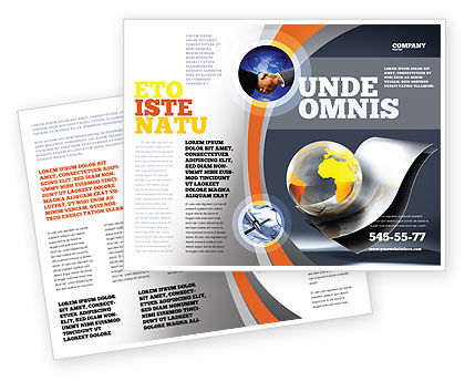 International Brochure Template, 05066, Global — PoweredTemplate.com