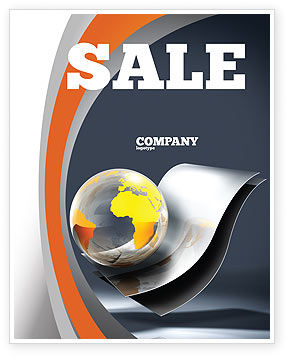 International Sale Poster Template, 05066, Abstract/Textures — PoweredTemplate.com
