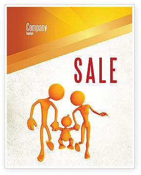 Education & Training: Support Of Parents Sale Poster Template #05068