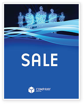Technology, Science & Computers: Virtual Avatars In The Internet Sale Poster Template #05069